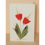 Blahopřání - 35 - kytky na bílé obálce