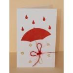 Blahopřání - 41 - červený deštník