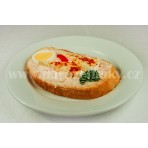 Hermelínový chlebíček s vajíčkem - pom.