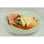 Italský chlebíček s mozzarelou na krému