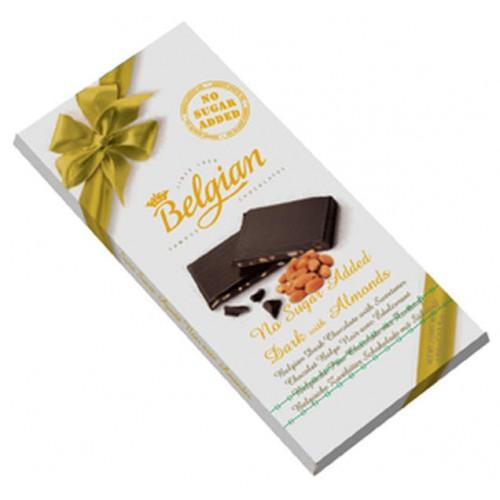 Hořká čokoláda s mandlemi bez cukru 100g