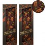 Hořká čokoláda pekanové ořechy, pistácie, brusinky 130g