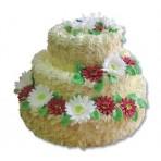 Svatební dort - Třípatrový s gerberami