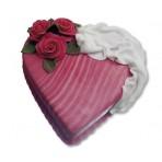 Dort z lásky - Srdce s látkou a růžemi
