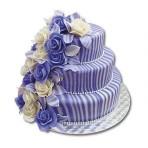 Svatební dort - Třípatrový s melírem