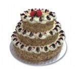 Svatební dort - Třípatrový dort s ořechy