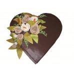 Dort  z lásky - Čokoládové srdce s kyticí