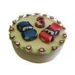 Dětský dort s autíčky
