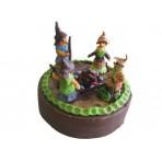 Dětský dort s čarodějnicemi