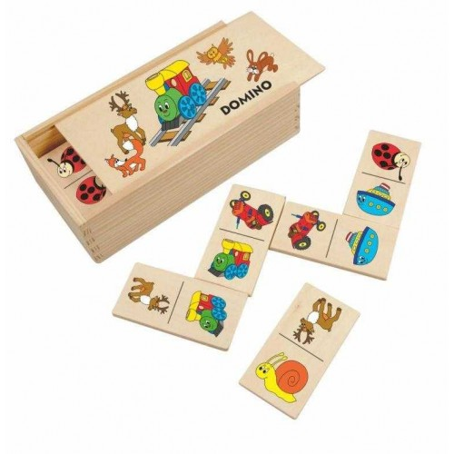 Dřevěné hračky Woody - Domino Mašinka