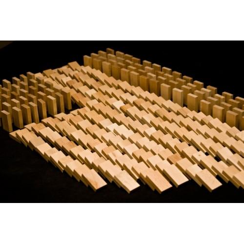 Dřevěné hry - Dřevěné domino v tubě - 800 ks natural