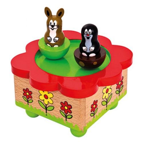 Dřevěné hračky - hrací skříňka Krtek