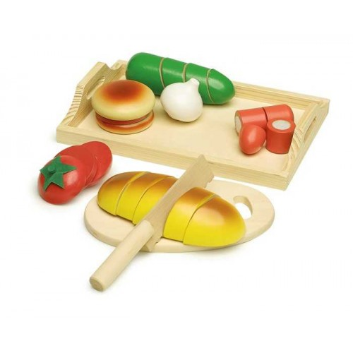 Dřevěné hračky - Krájecí prkénko Chléb