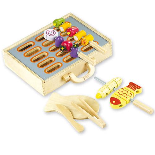 Dřevěné hračky - Grilování dřevěné potraviny