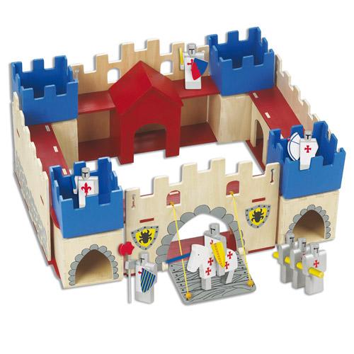 Dřevěné hračky - Hrady - Dětský dřevěný hrad velký