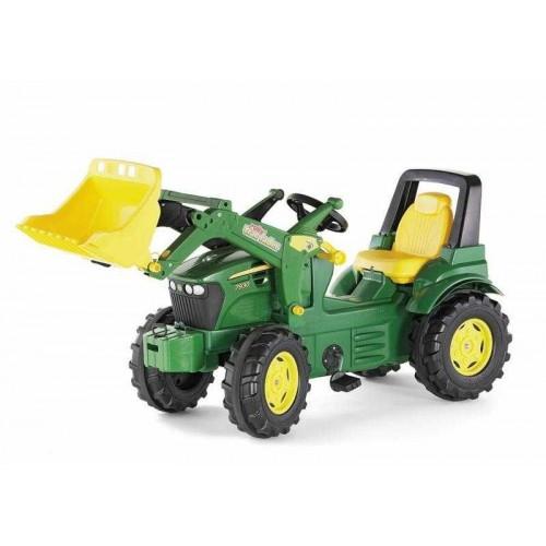 Šlapací traktor John Deere s předním nakladačem