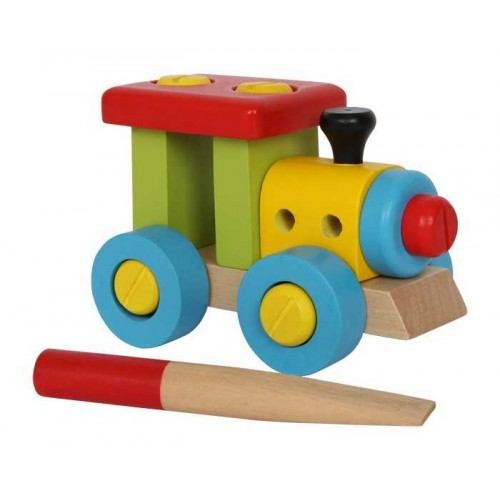 Dřevěné hračky - Stavebnice - Konstrukční vlak