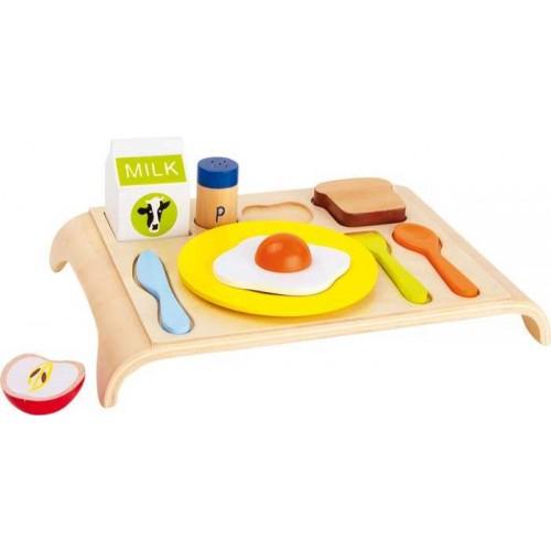Dřevěné hračky pro holky - Snídaňový tác dřevěný