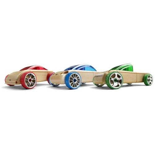 AUTOMOBLOX - Dřevěné auto - Trojbalení (S9m/C9m/T9m)