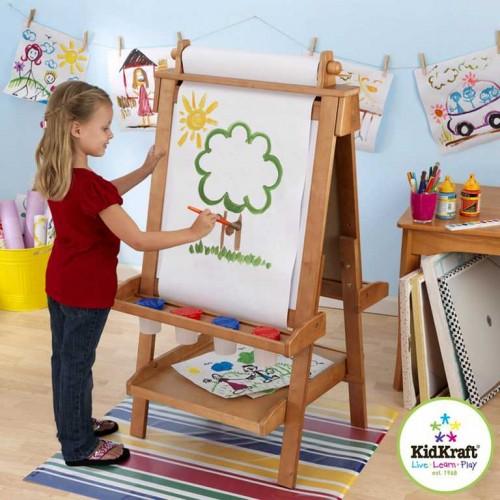 Dřevěné hračky - KidKraft dětská tabule - malířský stojan