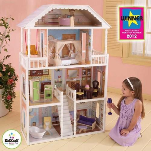 Dřevěné hračky - KidKraft domeček pro panenky Savannah