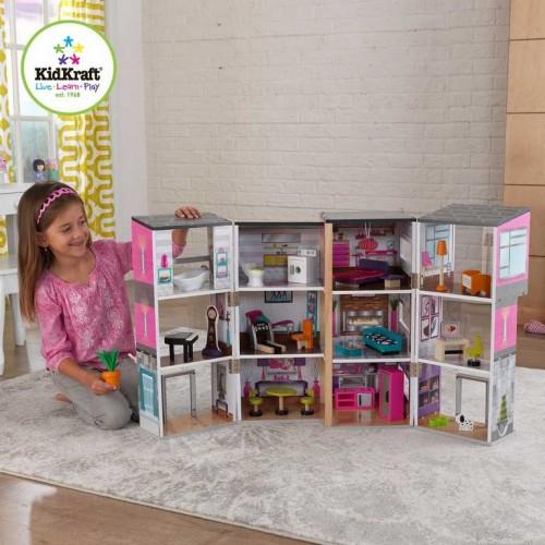 Dřevěné hračky - KidKraft domeček pro panenky Uptown