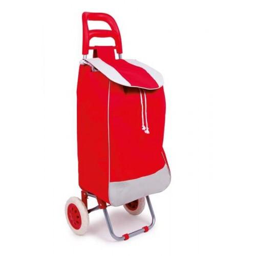 Nákupní taška na kolečkách, červená
