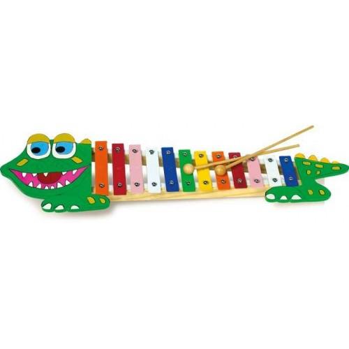 Dětské hudební nástroje - Xylofon krokodýl