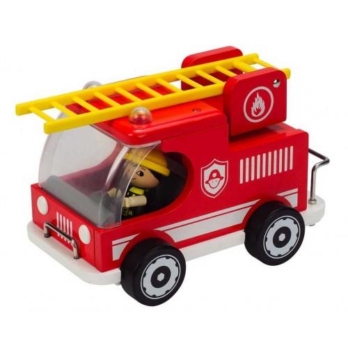 HAPE dřevěné hračky - Hasičské auto