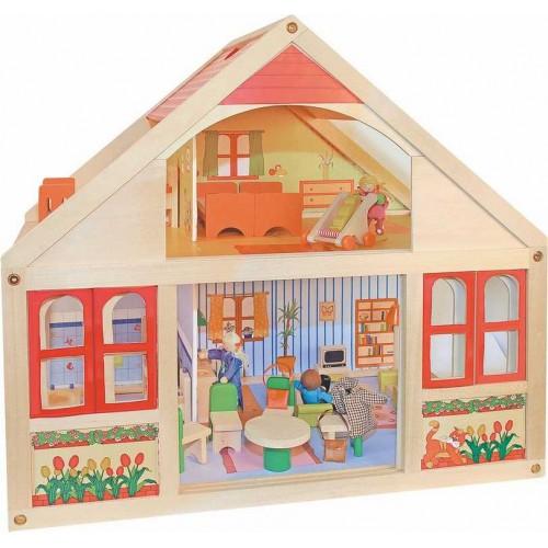 Dřevěné hračky - Domeček pro panenky, velký Veronica