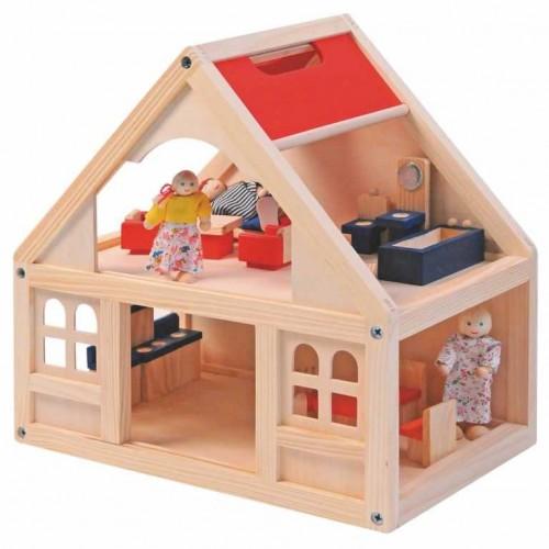Domeček pro panenky s příslušenstvím 21 dílů Woody