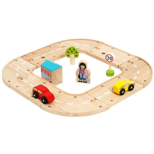 Bigjigs Rail Moje první dřevěná autodráha