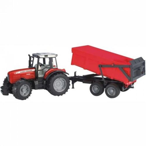 Bruder - Traktor MAS. FERUSON.+ skl. vůz červený
