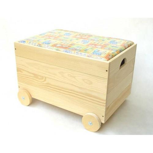 Dřevěná truhla na hračky - pro kluky