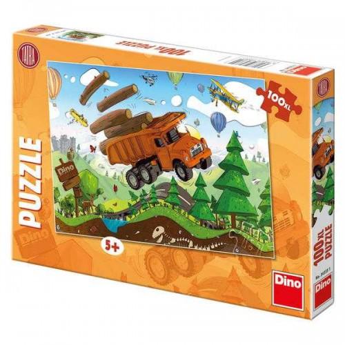Papírové puzzle 100 XL dílků Tatra na cestách