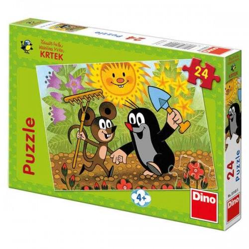 Papírové puzzle 24 dílků Krtek a myška