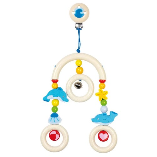 Heimess dřevěné hračky - Malý kolotoč na kočárek - Delfín