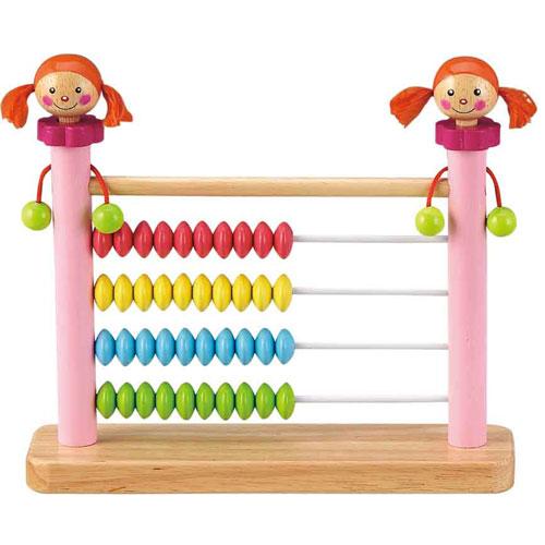 Dřevěné hračky - Školní pomůcky - Dřevěné počítadlo holčička
