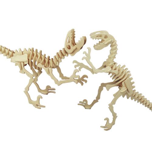 Dřevěné 3D puzzle skládačka dinosauři - Deinonychus J018