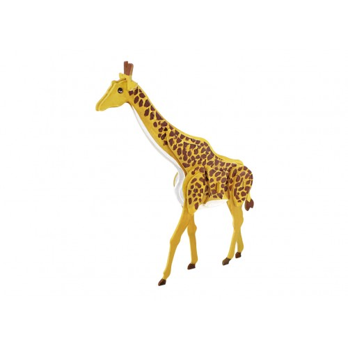 Robotime dřevěná skládačka - Žirafa + barvy a štětec