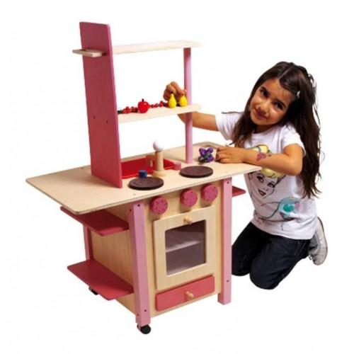 Dětská dřevěná kuchyňka vše v jednom