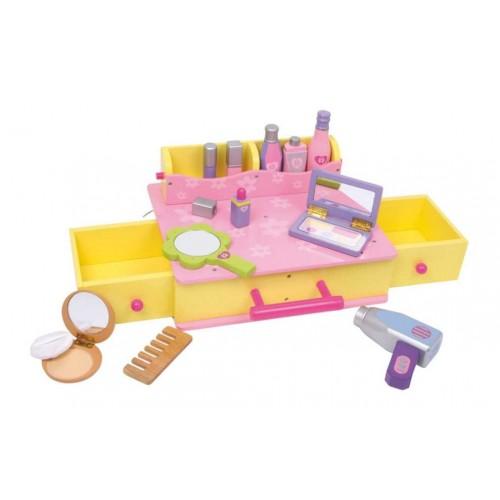 Dřevěné hračky - Dřevěný kosmetický kufřík