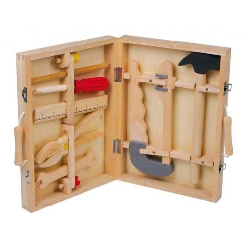 Dřevěné hračky - Kufřík dřevěné nářadí Maik