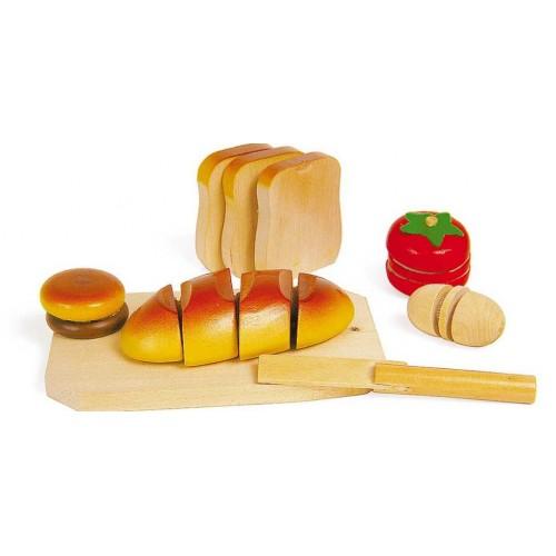 Dřevěné hračky - Krájení dřevěné potraviny