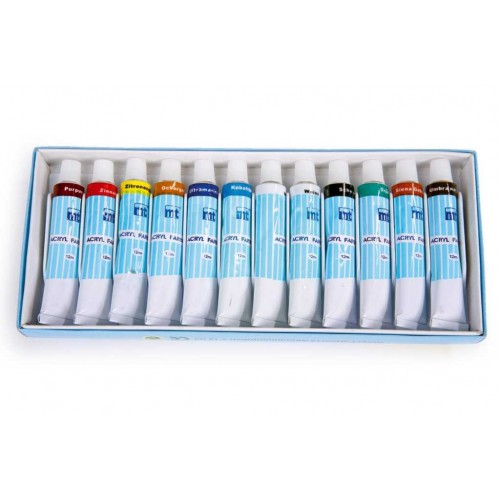 Akrylové barvy - sada 12-ti barev