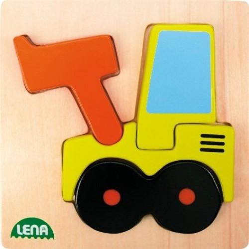 Dřevěné puzzle, nakladač