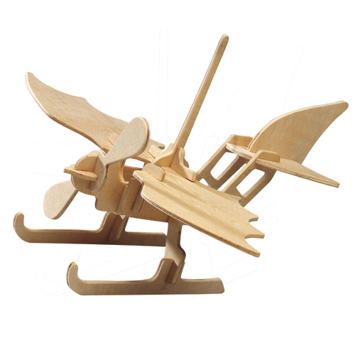 Dřevěné skládačky 3D puzzle letadla - Hydroplán P003