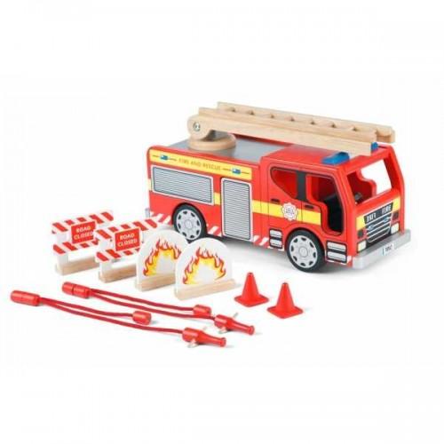Tidlo dřevěné hasičské auto