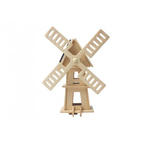 RoboTime - Dřevěná stavebnice - Solární větrný mlýn II