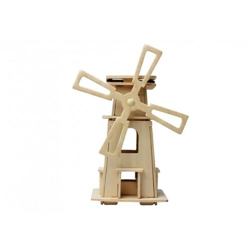 RoboTime - Dřevěná stavebnice - Solární větrný mlýn III